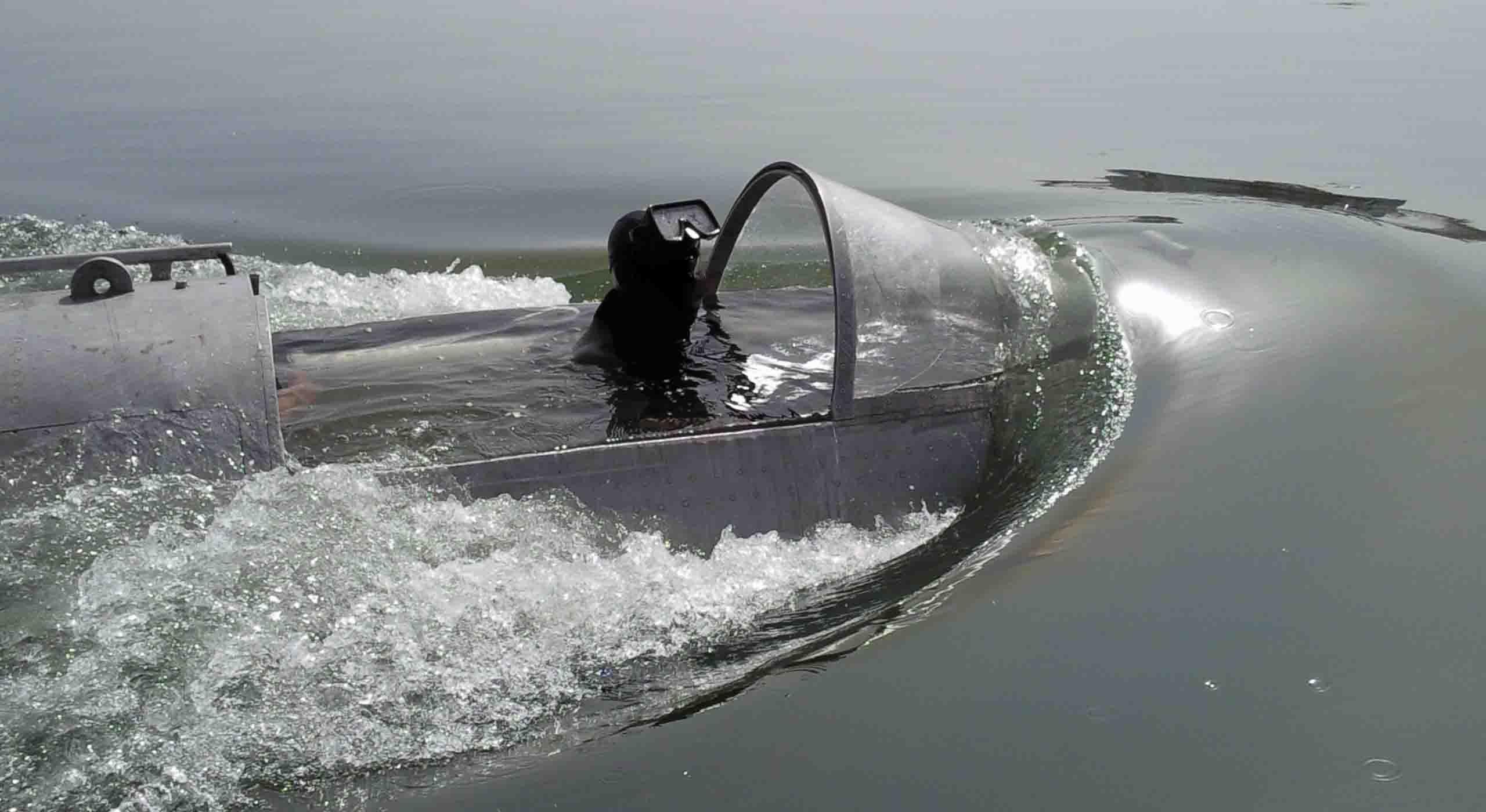 underwater robot upweling test